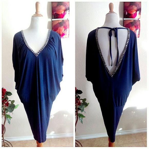 Moda International Dresses & Skirts - Tunic Dress with V Neck Front & Back